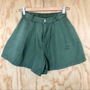Vintage High Waisted Green Shorts